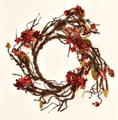 "20"" Hydrangea Vine Wreath, I.D. 11""-CLOSE OUT"