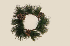 "4.25"" Pine and Cone Candle Ring"
