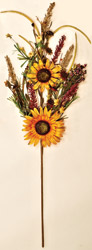 "34"" Mixed Fall Sunflower Branch"