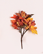 "5"" Fall Leaf & Berry Pick -CLOSEOUT"