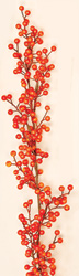 5' Weatherproof Berry Garland, Orange