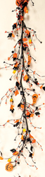5' Berry/Candy Corn & Pumpkin Garland