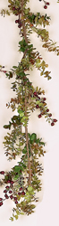 6' Eucalyptus Garland w/Berries