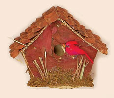 "4"" Natural Tabletop Birdhouse"