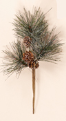 "9"" Snowy Pine & Cone Spray"