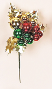 Holly Leaf & Xmas Balls Pick