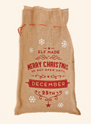 "20"" x 32"" Christmas Burlap Sack w/ Merry Christmas"