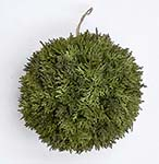 "8"" FAUX CYPRESS KISSING BALL"