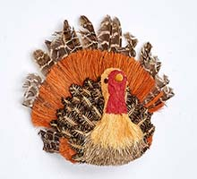 "6"" X 5"" X 7"" NATURAL TABLETOP TURKEY"