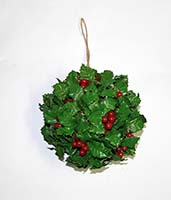 "8"" HOLLY BERRY KISSING BALL"