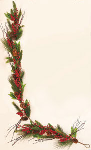 6' Weatherproof Pine Berry Garland