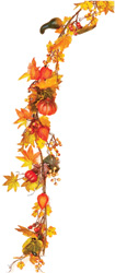 "72"" Maple Garland with Fall Decor"