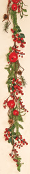 5' WP Berries, Apples & Pine Cones Garland