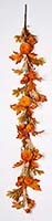 "60"" VELVET PUMPKIN GARLAND WITH BERRIES AND LEAVES"