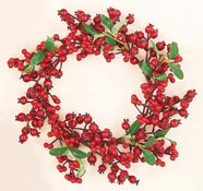 "13"" Weatherproof Berry Wreath"