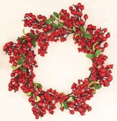 "18"" Weatherproof Berry Leaf Wreath"