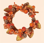 "3.5"" Orange Glitter Berry Candle Ring (Inner Diameter)"