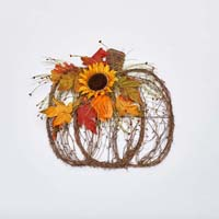 "L 18""X W16"" X H4"" PUMPKIN TWIG DECOR"