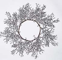 "22""  SILVER SEQUIN GLITTER WREATH"