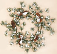 "27"" Snowy Pine & Cone Wreath"