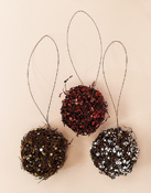 "3.5"" Sequin Ball Ornament"