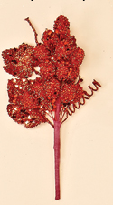 "7"" Red Beaded Grape Pick"