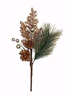 "16"" PINE SPRAY W/ CONES & BERRIES"