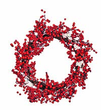 "20"" SNOWY BERRY WREATH"