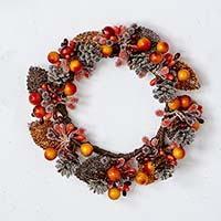 "3.25"" FALL BERRY & CANDLE RING"