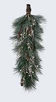"29"" WHITE PINECONE AND GREEN PINE NEEDLE TEARDROP"