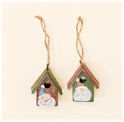 "2"" Metal Birdhouse Ornament"