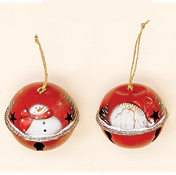 "3"" Metal Christmas Ornament Jingle Bell Assortment"