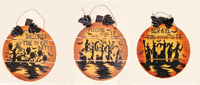 "17"" Wooden Pumpkin Wall Hanging"