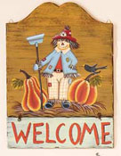 15' Wood Fall Welcome Plaque