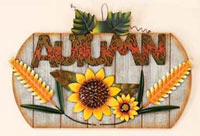 "15"" Wood & Tin  Autumn Sign - CLOSE OUT"