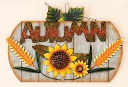 "15"" Wood & Tin  Autumn Sign"