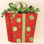 "9"" Red/Green Metal Giftbox - CLOSE OUT"