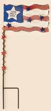 "20"" Metal Americana Flag Stake With Stars"