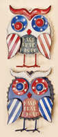 "7.5"" Patriotic Tabletop Owl"