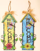"20"" Hanging House Welcome Sign"