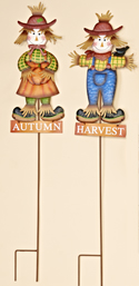 "35"" Metal Scarecrow Stake"