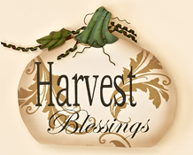 "7"" Wooden Pumpkin Harvest Blessings"
