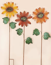 "39"" Metal Flower on Stake"