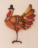 "7.5"" Standing Wooden Turkey"