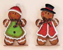 "9.5"" Standing Metal Gingerbread Man"
