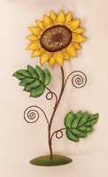 "13"" Standing Metal Sunflower"