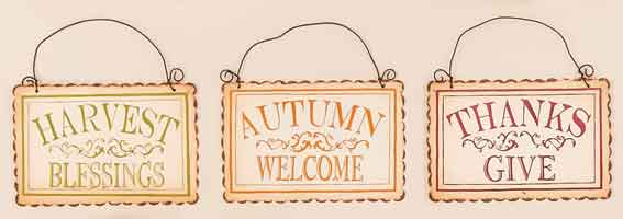 "7"" Metal Hanging Fall Sign"