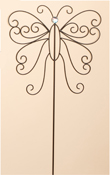 "31"" Metal Butterfly Garden Stick"