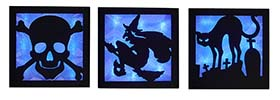 "9"" Lighted Halloween Wall Hanging"