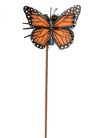 "4.5"" Metal Monarch Butterfly on 13"" Wobbly Stake"